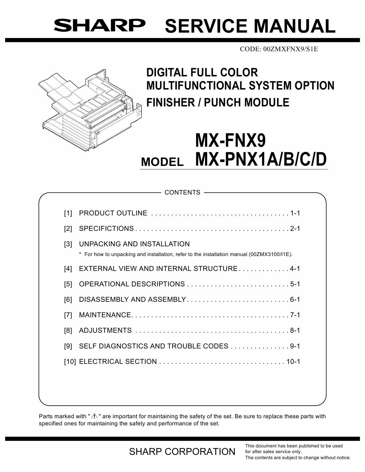 SHARP MX FNX9 PNX1 Service Manual-1